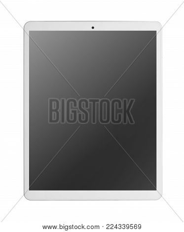 Modern white tablet pc. isolated on white