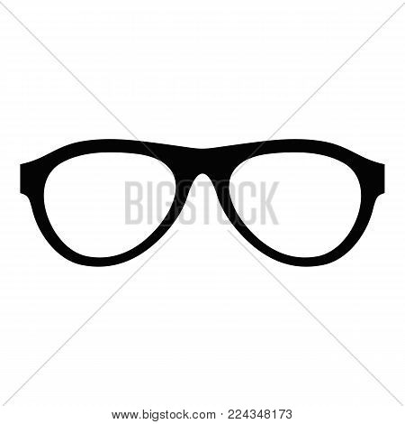 Myopic glasses icon. Simple illustration of myopic glasses vector icon for web
