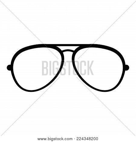 Oval eyeglasses icon. Simple illustration of oval eyeglasses vector icon for web