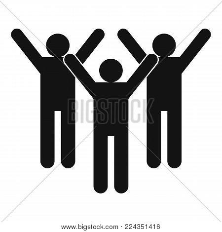 Winning teamwork icon. Simple illustration of winning teamwork vector icon for web