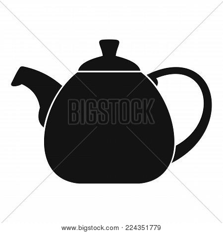 Pot bellied kettle icon. Simple illustration of pot bellied kettle vector icon for web