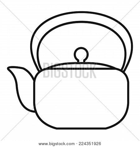 Chinese teapot icon. Outline illustration of chinese teapot vector icon for web