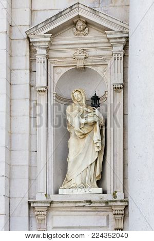 St. Clara statue in Mafra National Palace Lisboa, Portugal
