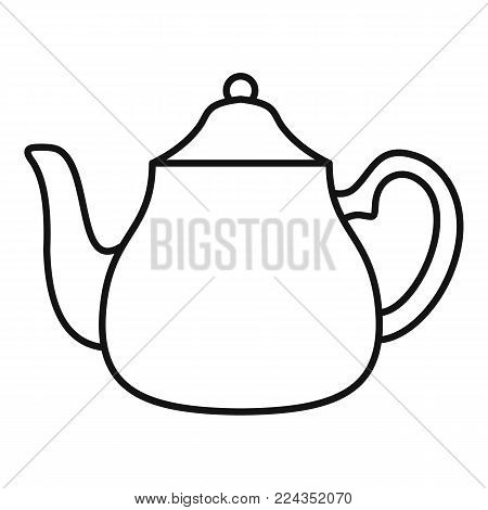 Big kettle icon. Outline illustration of big kettle vector icon for web