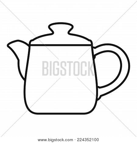 Ceramic kettle icon. Outline illustration of ceramic kettle vector icon for web