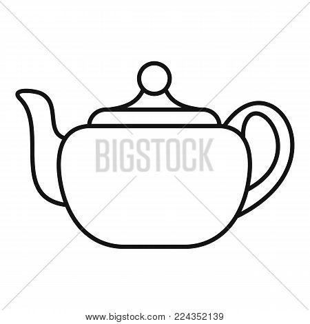 Small teapot icon. Outline illustration of small teapot vector icon for web