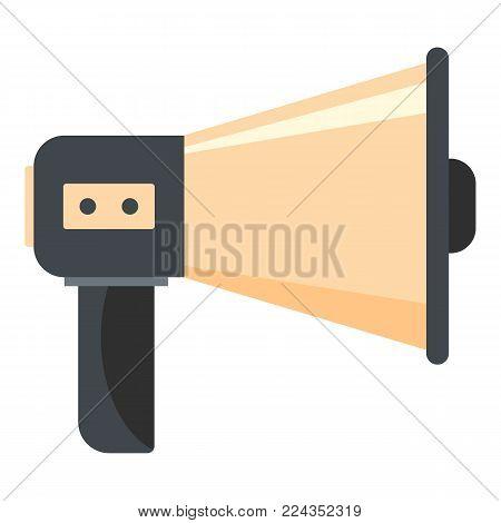Single megaphone icon. Cartoon illustration of single megaphone vector icon for web