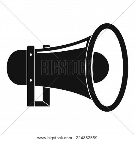 Sound of megaphone icon. Simple illustration of sound of megaphone vector icon for web