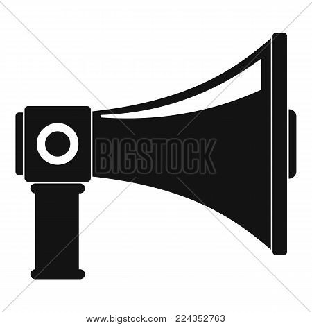 Single megaphone icon. Simple illustration of single megaphone vector icon for web