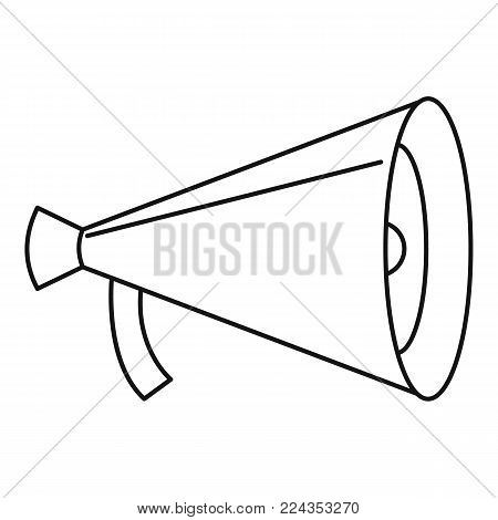 Small megaphone icon. Outline illustration of small megaphone vector icon for web