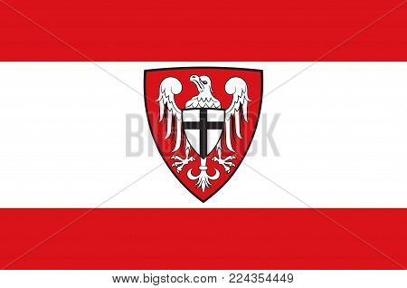 Flag of Hochsauerlandkreis is a district in the east of North Rhine-Westphalia, Germany. Vector illustration