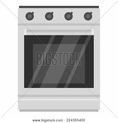 Modern gas oven icon. Cartoon illustration of modern gas oven vector icon for web