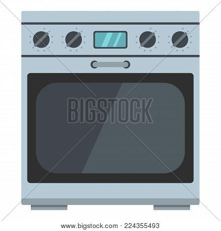Domestic gas oven icon. Cartoon illustration of domestic gas oven vector icon for web