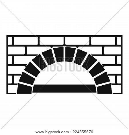 Brick oven icon. Simple illustration of brick oven vector icon for web