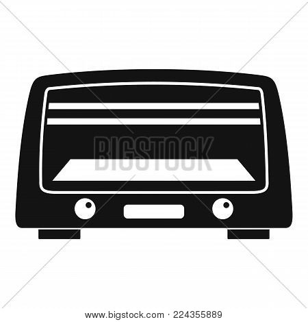Microwave oven icon. Simple illustration of microwave oven vector icon for web