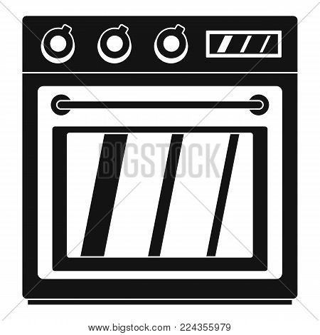 Electric oven icon. Simple illustration of electric oven vector icon for web