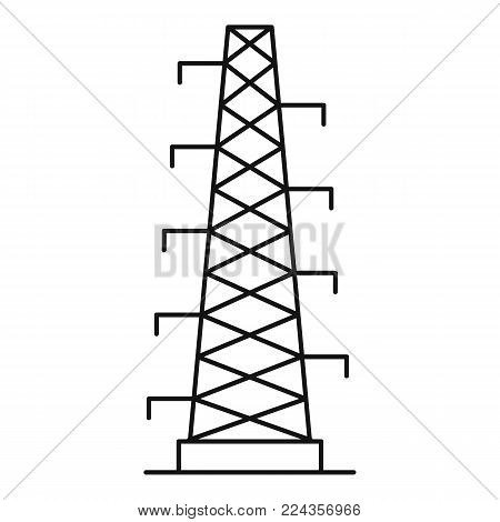Power station icon. Outline illustration of power station vector icon for web