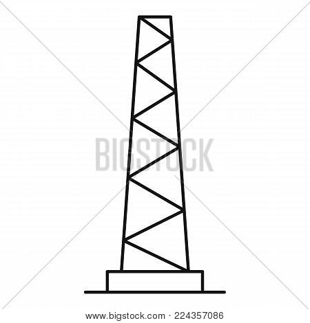 Tall pole icon. Outline illustration of tall pole vector icon for web