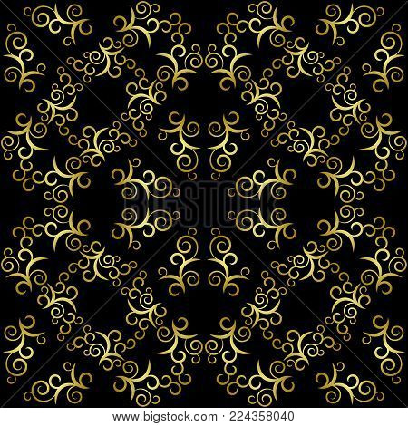 Vector retro seamless pattern. Arabic shades. Wallpaper.