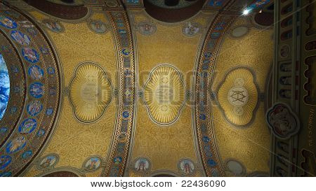 Ceiling Of The Nave Of The Votive Church
