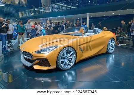 FRANKFURT, GERMANY - SEP 17, 2017: BMW Z4 concept sports car at IAA Motor Show