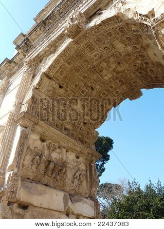 Arch of Titus at the Roman Forum in Rome, Italy