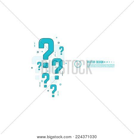 Question mark icon. Modern help symbol. FAQ sign on background. Contemporary vector illustration.