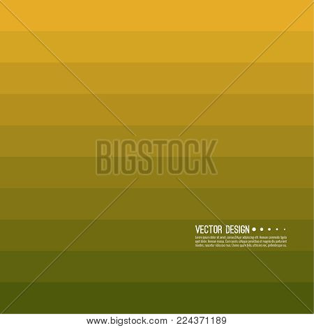 Abstract background with rhythmic rectangular horizontal stripes. Transition and gradation of color. Vector blend gradient for illustrations, covers and flyers. Color yellow, gold, green, .
