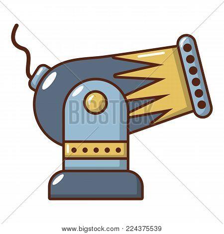 Battle cannon icon. Cartoon illustration of battle cannon vector icon for web.