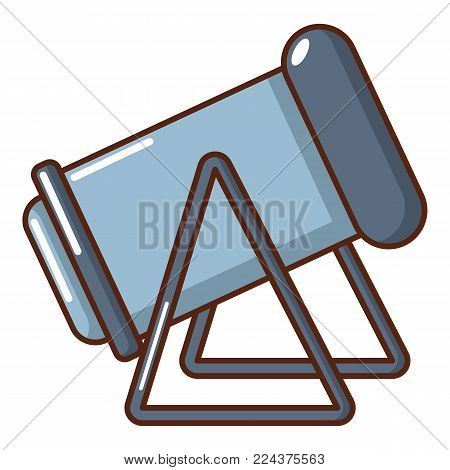 Ancient cannon icon. Cartoon illustration of ancient cannon vector icon for web.