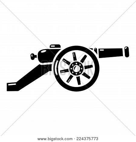Automatic gun icon. Simple illustration of automatic gun vector icon for web.