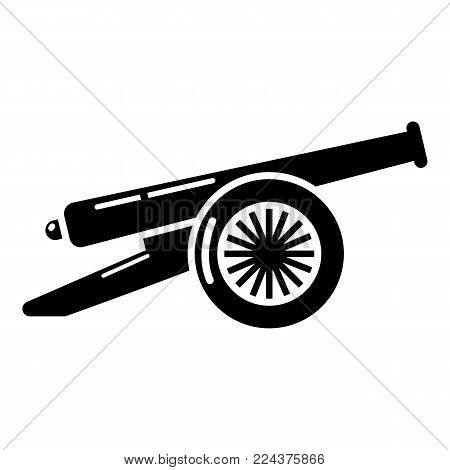 Enemy cannon icon. Simple illustration of enemy cannon vector icon for web.