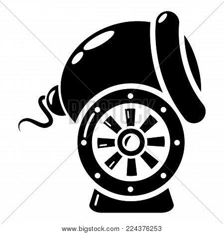 Small gun icon. Simple illustration of small gun vector icon for web.