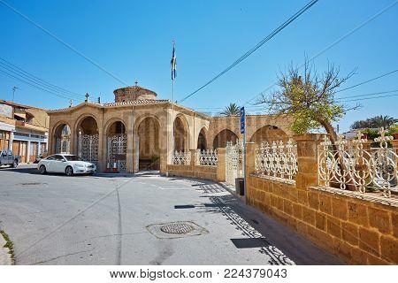 Old antique shop at popular tourist Arasta street. Nicosia, Cyprus.