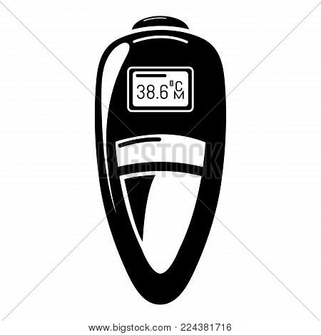 Measuring thermometer icon. Simple illustration of measuring thermometer vector icon for web
