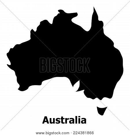 Australia map icon. Simple illustration of australia map vector icon for web