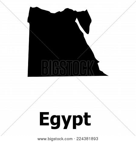 Egypt map icon. Simple illustration of egypt map vector icon for web