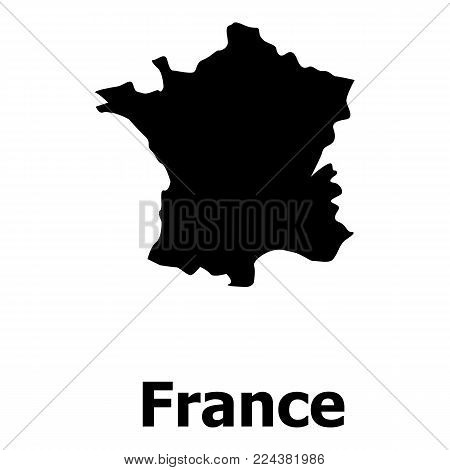 France map icon. Simple illustration of france map vector icon for web