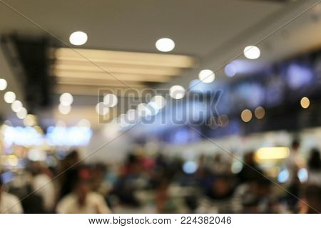 Abstract Blur Background Of Restaurants Cafe For Design Backdrop To Presentation Or Business Promoti