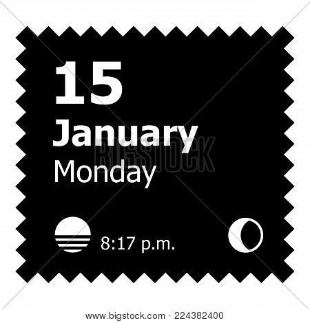 January calendar icon. Simple illustration of january calendar vector icon for web