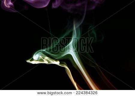 Smoke background / Smoke is a collection of airborne solid and liquid particulates and gases emitted when a material undergoes combustion or pyrolysis