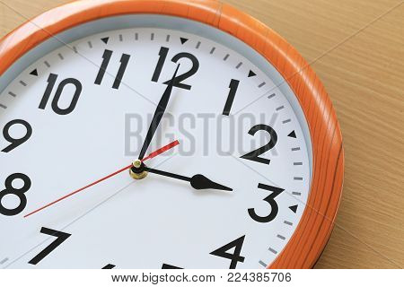 Focus time in clock of three o'clock for the design in your business concept and design in your work.