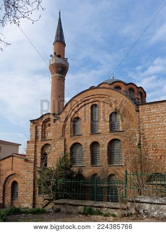 Kalenderhane Mosque in Istanbul, Turkey. Completed in XII century, it is a former Eastern Orthodox church, converted into a mosque by the Ottomans in 1746