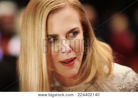 BERLIN, GERMANY - FEBRUARY 6: Nicole Kidman poses on the red carpet prior to the premeir of the movie 'Queen of the Desert' at the 65th Berlin Film Festival Berlinale in Berlin, on February 6, 2015.