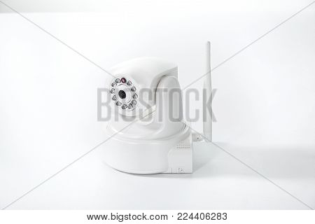 Gomel, Belarus - March 27, 2013: Surveillance Cameras Of Nts Gomel Company On A White Background.
