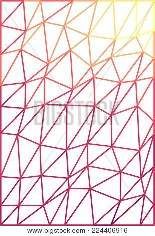 Abstract polygonal background, mosaics made of triangles with not expand contour