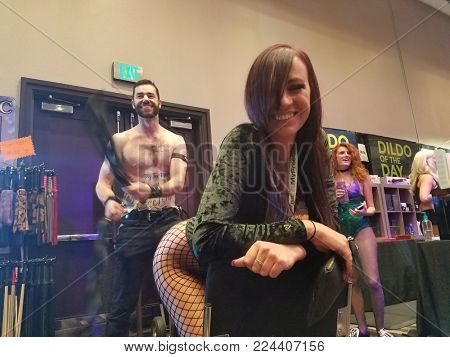 2017 AVN Adult Entertainment Expo held at the Hard Rock Hotel and Casino in Las Vegas, USA on January 20, 2017.
