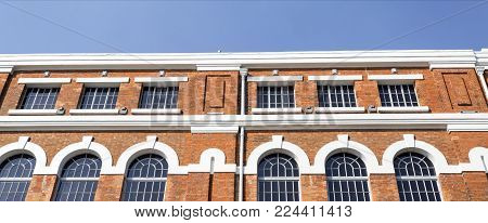 The Electricity Museum is a beautiful example of Portuguese industrial architecture of iron covered with brick in artistic stlyles from Art Nouveau to classicism, in Lisbon, Portugal