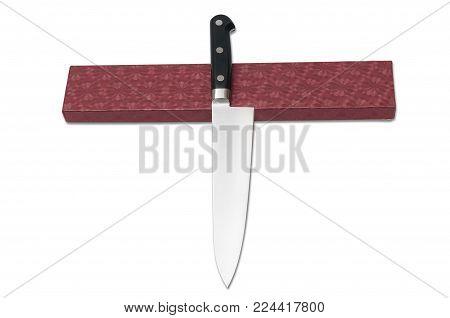 kitchen knife Japanese. isolated on white background