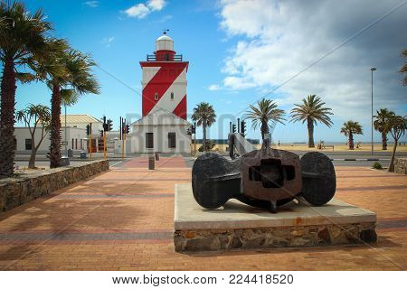 Green Point lighthouse view in Cape Town, South Africa